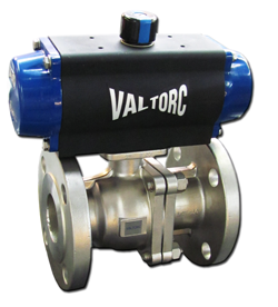 Actuated Stainless Steel Flanged Ball Valve (Pneumatic)