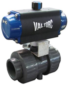 Actuated PVC Ball Valve (Pneumatic)