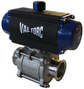 Actuated Sanitary Tri-Clamp Ball Valve (Pneumatic)