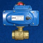 2-Way Brass Ball Valve EL Actuator Blue