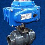 2-Way PVC Ball Valve Electric Actuator EL Blue