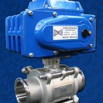 2-Way Sanitary Ball Valve Actuated EL Blue