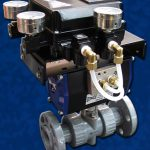 Actuated PVC V Ball Ball Valve Flanged Positioner