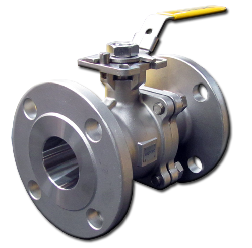 Flanged Ball Valve 180 Front Side Picture