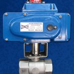 High-Pressure Ball Valve Stainless Steel EL Actuator Blue
