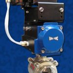 Stainless Steel V-Ball Actuated Package Da Pneumatic Actuator Blue