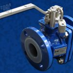 Teflon-Lined Flanged Ball Valve Series 470 Background