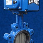 Wafer Lug Butterfly Valve EL Actuator Blue